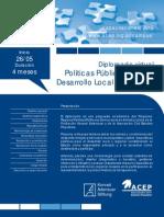 Diplomado Virtual Politicas Publicas Para El Desarrollo Local y Regional ACEP KAS 2015