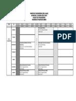 Jadual Waktu MOG Semester 2, Sesi 2014.2015