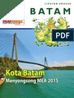 Suplemen HUD Magz Edisi 5 /2015. Kota BATAM Menyongsong MEA 2015.