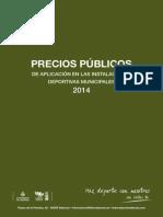 Precios Publicos 2014 Cast
