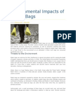 Environmental Impacts of Plastic Bags