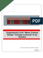 Proyecto Organizacion Civil Maria Cristina Boada