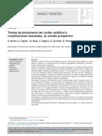Pinzamiento y Complicaciones del cordon umbilical
