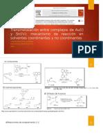Transmetalación Entre Complejos de Au(I) y Sn(IV