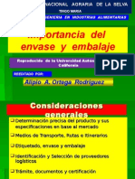 Importancia Del Envase y Embalaje ( 1 Sesion )