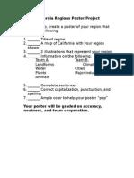 California Regions Poster Project