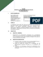 Tecnicas y Procedimientos de Investigacion II