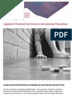 Legislación Prevención de Consumo de Sustancias Psicoactivas