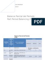 Balance Parcial Del Período (PPB)