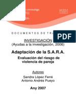 Evaluacion Riesgo Violencia Pareja S.A.R.A.
