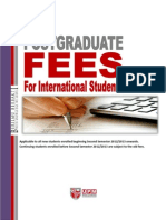 International Student Fees Second Semester 2012