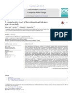 A Comprehensive Study of Three Dimensional Tolerance Analysis Methods