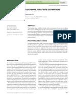 Journal of Sensory Studies Volume 27 Issue 3 2012 [Doi 10.1111%2fj.1745-459x.2012.00383.x] Guillermo Hough; Lorena Garitta -- Methodology for Sensory Shelf-life Estimation- A Review