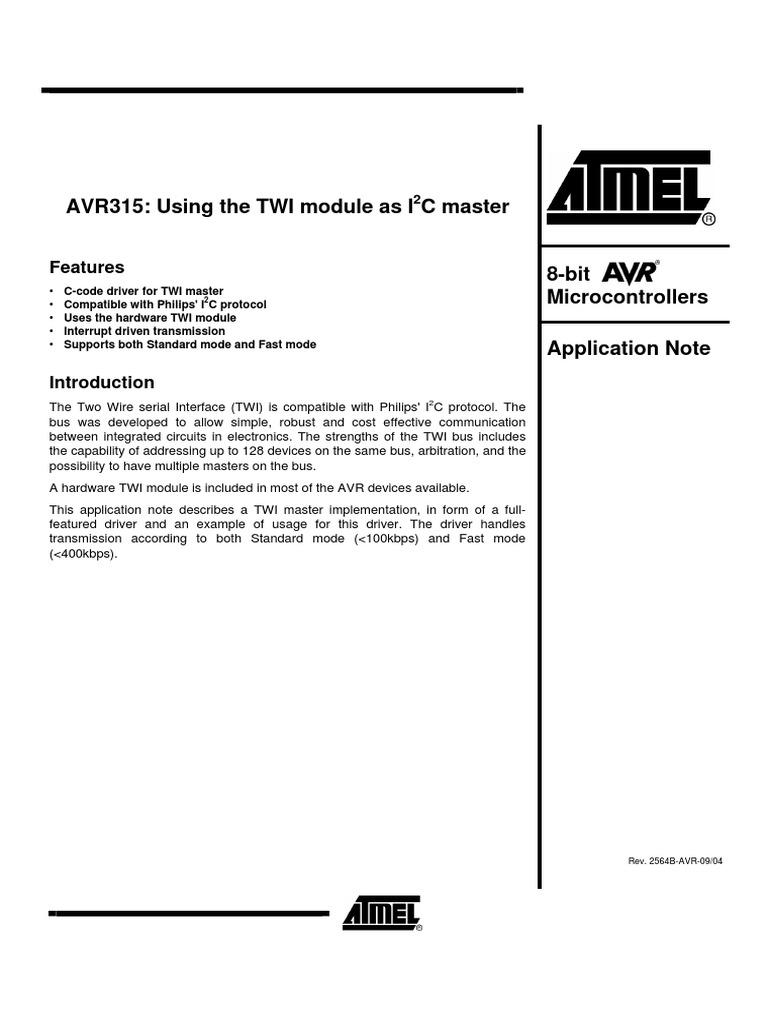 Using the TWI Module as I2C Master | Digital & Social Media