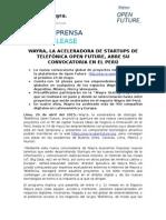 20150428 Np Nueva Convocatoria de Wayra Peru Cnag (3)