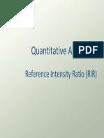 Quantitative Analysis RIR