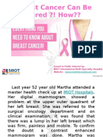 Breast Cancer Can Be Cured With Proper Detection and a Regular Medical Follow-Up