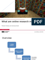 What are online reseach methods