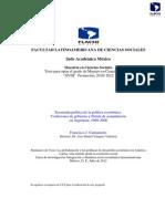 CANTAMUTTO Francisco - Economía Política de La Política Económica. Coaliciones de Gobierno y Patrón de Acumulación 1998-2008