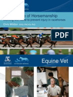 The Science of Horsemanship - Working with Bone to Prevent Injury in Racehorses.
