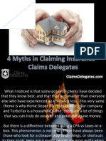 4 Myths in Claiming Insurance - Claims Delegates