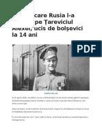 Ziua În Care Rusia L-A Regăsit Pe Ţareviciul Alexei, Ucis de Bolşevici La 14 Ani