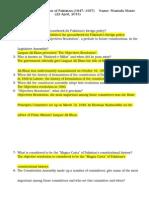 hosc q  a - constitution of pakistan (1947- 1957)  (22 april, 2015)