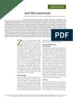 Zinc- An Essential Micronutrient