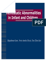 Gangguan Hemostasis Pada Bayi Dan Anak