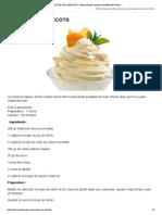 MOUSSE AUX ABRICOTS _ recette illustrée, simple et facileRecette Gateau