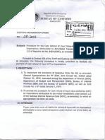 Customs Memorandum Order No. 28-2014