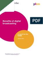 Benefits of Digital Broadcasting. Plum Consulting. Jan 2014