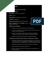 Presentación y Programa de La Asignatura