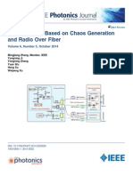 Remote Radar Based on Chaos Generation and Radio Over Fiber