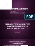 Integrating Marketing Communications to Build Brand Equity Final