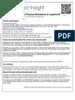 Contemporary Logistics Education an International Perspective