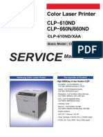 Samsung Color Laser Printer CLP-610ND CLP-660N CLP-660ND Parts and Service Manual