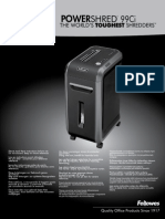 POWERSHRED 99Ci Manual
