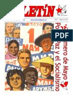Boletin del Ateneo Paz y Socialismo de mayo de 2015