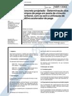 NBR 13069 - Concreto Projetado - Determinacao Dos Tempos de Pega Em Pasta de Cimento Portland Com