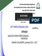 2014-Sertifikat Keanggotaan FPPTI Pusat
