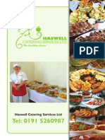 Haswell Catering Services Buffet Menu