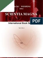 SCIENTIA MAGNA, book series, Vol. 5, No. 2