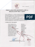 Proclamacion Nueva Delegación CADUS