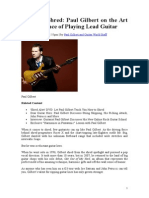 School of Shred. Paul Gilbert on the Art and Science of Playing Lead Guitar