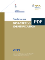 Disaster Victim Identification 2011 Guidance