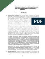 """Informe de la comisión por la """"Probidad de la Gestión Pública"""""""