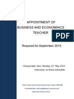 Teacher of Business and Economics