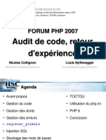 Forum PHP 2007 Audit