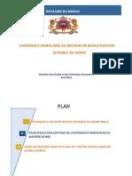 Expérience Marocaine en Matiere de Budgetisation Sensible Au Genre 14 04 2015